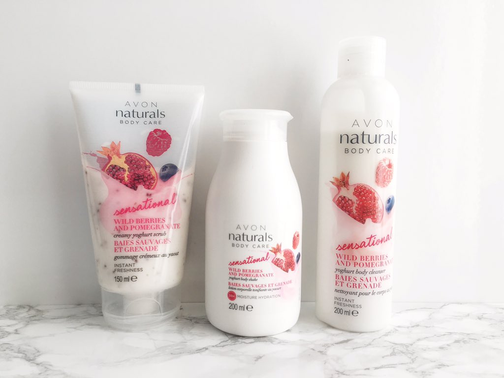 Avon Natural Wild Berries & Pomegranate range