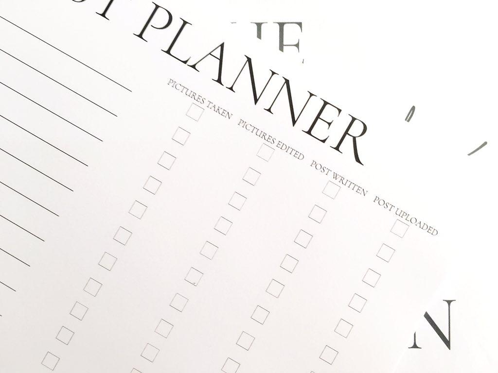 Blog Post Planner 1