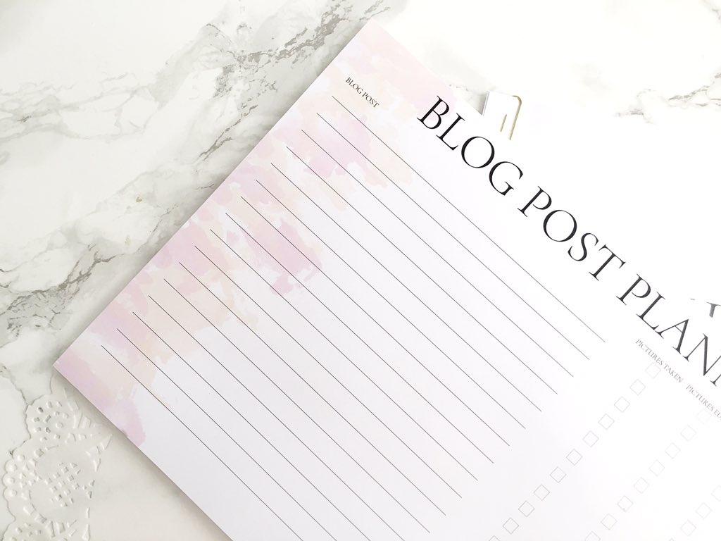 Blog Post Planner