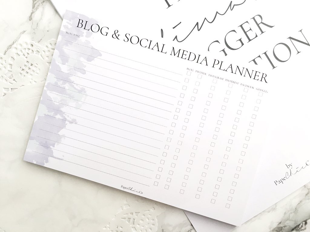 Blog & Social Media Planner