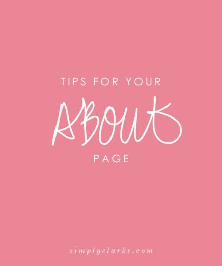 about-page-tips
